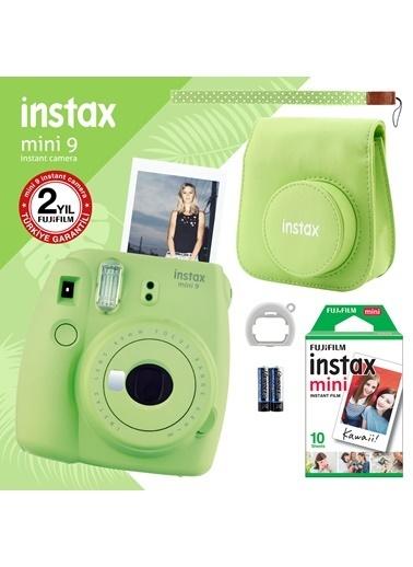 Fujifilm Instax Mini 9 Yeşil Fotoğraf Makinesi ve Hediye Seti 3 Yeşil